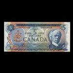 Canada, Bank of Canada, 5 dollars <br /> 1972