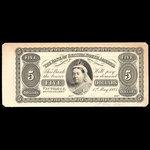 Canada, Bank of British North America, 5 dollars <br /> May 1, 1884