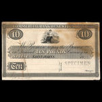 Canada, Commercial Bank of Newfoundland, 10 pounds <br /> 1859