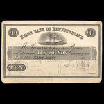 Canada, Union Bank of Newfoundland, 10 pounds <br /> April 5, 1854