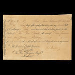 Canada, Hudson's Bay Company, 10 pounds, 2 shillings <br /> February 19, 1835