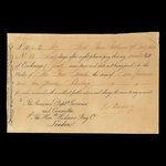 Canada, Hudson's Bay Company, 10 pounds, 2 shillings <br /> February 19, 1835