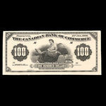 Canada, Canadian Bank of Commerce, 100 dollars <br /> January 2, 1906