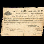 Canada, Army Bill Office, 25 dollars <br /> April 17, 1813