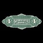 Canada, Stadacona Bank, 4 dollars <br /> April 2, 1874