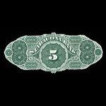 Canada, Stadacona Bank, 5 dollars <br /> April 2, 1874