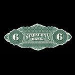 Canada, Stadacona Bank, 6 dollars <br /> April 2, 1874