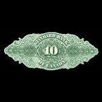 Canada, Standard Bank of Canada, 10 dollars <br /> November 1, 1876