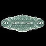 Canada, Banque Ville-Marie, 50 dollars <br /> October 1, 1885