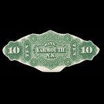Canada, Bank of Yarmouth, 10 dollars <br /> July 1, 1870