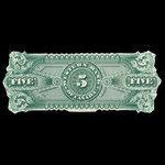 Canada, Western Bank of Canada, 5 dollars <br /> October 2, 1882