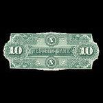 Canada, Western Bank of Canada, 10 dollars <br /> October 2, 1882