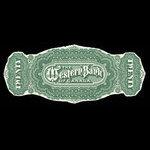 Canada, Western Bank of Canada, 20 dollars <br /> July 2, 1890