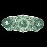 Canada, Exchange Bank of Canada, 4 dollars <br /> October 1, 1872