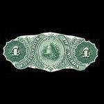 Canada, Exchange Bank of Canada, 4 dollars <br /> October 1, 1872