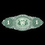 Canada, Bank of Hamilton, 4 dollars <br /> September 2, 1872