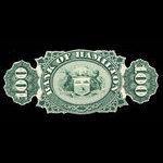 Canada, Bank of Hamilton, 100 dollars <br /> January 2, 1873