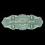 Canada, Metropolitan Bank, 4 dollars <br /> 1872