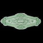 Canada, Dominion Bank, 100 dollars <br /> October 1, 1873