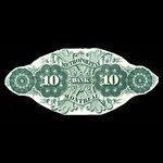 Canada, Metropolitan Bank, 10 dollars <br /> 1872