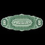 Canada, Banque d'Hochelaga, 10 piastres <br /> January 2, 1874