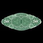 Canada, Banque d'Hochelaga, 50 piastres <br /> November 1, 1875
