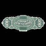 Canada, Banque Jacques-Cartier, 100 piastres <br /> May 2, 1870