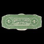 Canada, Royal Canadian Bank, 4 dollars <br /> July 1, 1870