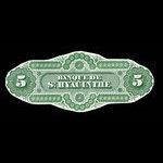 Canada, Banque de St. Hyacinthe, 5 dollars <br /> January 2, 1874