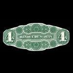 Canada, Banque de St. Jean, 4 dollars <br /> September 1, 1873
