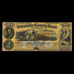 Canada, Grenville County Bank, 2 dollars <br /> 1856