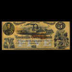 Canada, Grenville County Bank, 5 dollars <br /> 1856