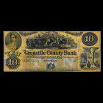 Canada, Grenville County Bank, 10 dollars <br /> 1856