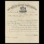 Canada, Bank of British North America, 43 pounds, 18 shillings, 8 pence <br /> December 15, 1886