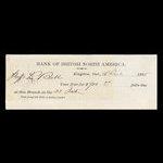Canada, Bank of British North America, 700 dollars <br /> December 16, 1868