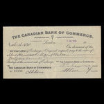Canada, Canadian Bank of Commerce, 46 pounds, 16 shillings, 8 pence <br /> July 5, 1913