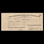Canada, Canadian Bank of Commerce, 3,000 pounds <br /> March 14, 1924