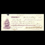 Canada, Bank of Montreal, 1,500 dollars <br /> July 15, 1863