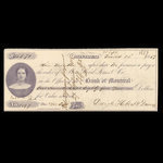 Canada, Bank of Montreal, 185 dollars, 71 cents <br /> March 22, 1859