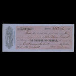 Canada, Banque du Peuple (People's Bank), 148 dollars, 44 cents <br /> April 26, 1861