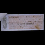 Canada, Banque du Peuple (People's Bank), 128 dollars, 31 cents <br /> May 1, 1861