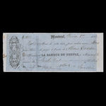 Canada, Banque du Peuple (People's Bank), 400 dollars <br /> February 1, 1859