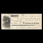 Canada, Banque du Peuple (People's Bank), 100 dollars <br /> November 25, 1863