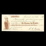 Canada, Banque du Peuple (People's Bank), 372 dollars, 91 cents <br /> October 25, 1860