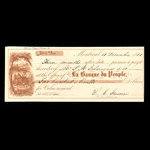Canada, Banque du Peuple (People's Bank), 210 dollars, 22 cents <br /> December 10, 1860