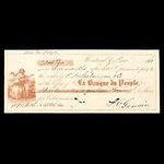 Canada, Banque du Peuple (People's Bank), 314 dollars, 47 cents <br /> November 9, 1860