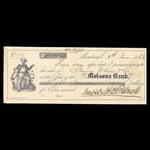 Canada, Molsons Bank, 8,000 dollars <br /> June 8, 1863