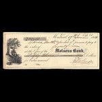 Canada, Molsons Bank, 53 dollars, 10 cents <br /> June 17, 1864