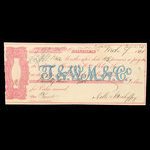 Canada, Molsons Bank, 93 dollars, 25 cents <br /> March 7, 1861