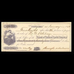 Canada, Bank of British North America, 172 dollars, 50 cents <br /> January 21, 1858